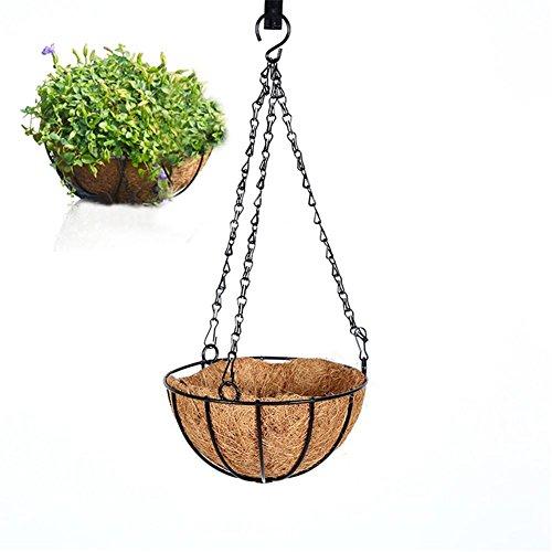 Fer forgé en fibre de coco ornements en fer forgé Tenture murale panier balcon pots de fleurs