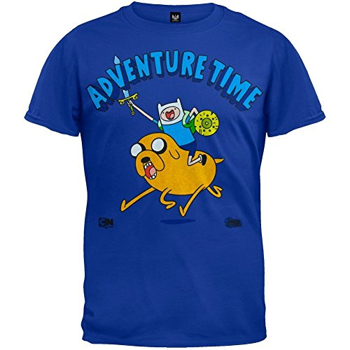 Old Glory - Adventure Time - Mens Onward Charge T-shirt Small Blue 5a6473a3db90