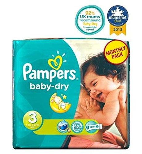 Pampers Baby-Dry Windeln Größe 3 Monatspackung - 198 Windeln - Packung mit 2