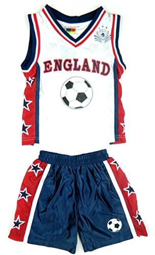 Basketball Sommer Shorts Jungen Neue Mädchen Top Weste Kit Set Größe Alter 0-12 Jahre (Jahre Neue Kit)