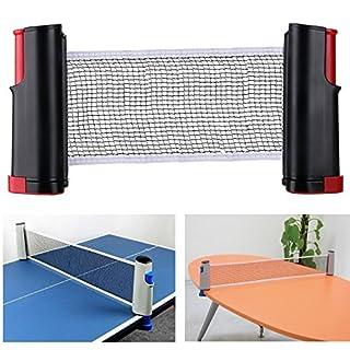 Aiskaer tragbares, ausziehbares Tischtennis-Netz, Ersatz-Zubehör für Tischtennis, schwarz