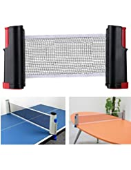Aiskaer Portable Retractable Table Tennis Net Rack/Replacement Ping Pong Accessory