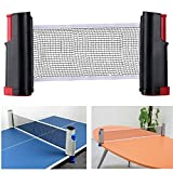 Aiskaer Portable Retractable Table Tennis Net Rack/ Replacement Ping Pong Accessory