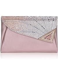3090484ed26ed Elegant Abendtasche Damen Clutch Tasche Glitzer Leder Schultertaschen  Strass Party Tasche Umhänge Tasche