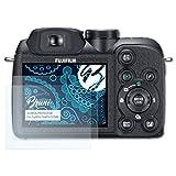 Bruni Película Protectora para Fujifilm FinePix S1500 Protector Película - 2 x claro Lámina Protectora de Pantalla