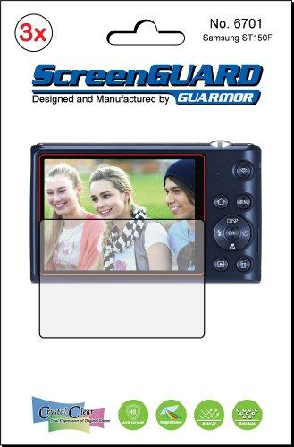 3x Samsung ST150F ST150Kamera Premium Clear LCD displayschutzfolie Cover Guard Shield Schutzfolie Kit., exakte Passform, kein Schneiden. (3Stücke von GUARMOR) Lcd-hood Kit