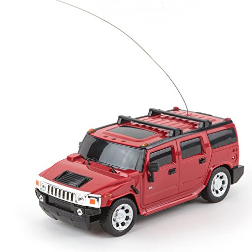 Car Rc 1 4x4 24 (Roter GM Hummer H2 Geländewagen, 1:24, mit Fernbedienung, für Kinder ab 6+)