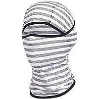 Kcanamgal Máscara De Pasamontañas, Capucha De Moto De Seda De Hielo Máscara Unisex Transpirable A Prueba De Viento Protector Solar UV,White