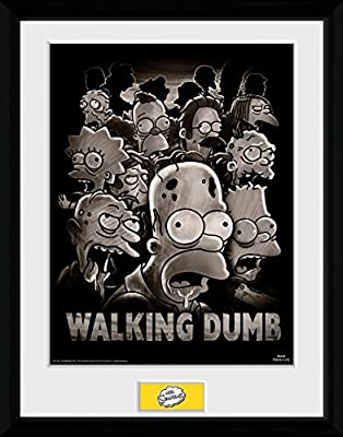 GB Eye LTD, The Simpsons, The Walking Dumb, Photographie encadrée 30 x 40 cm