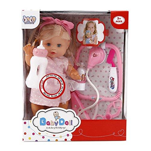 Fansport Baby Doll Set, Mädchen Spielzeug Lebensechte Newborn Baby Realistische Doll Set für Kinder