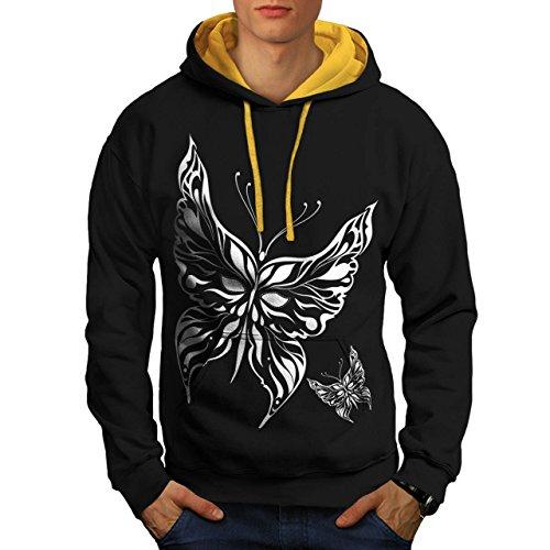 papillon-tatouage-artistique-papillon-de-homme-nouveau-noir-avec-capuche-dore-l-capuchon-contraste-w
