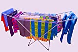 Expandable iron Clothes Drying Rack for Laundry Room, X-Leg Cloth Dryer, Metal Rods For Drying Clothes And Storage,Rack Drying Rack Clothes Dryer, Cloth Drying Stand Cloth Hanging Rack Cloth Hanger Cloth Dryer Stand