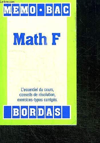 MEMO/20 MATH.F AE (Ancienne Edition)