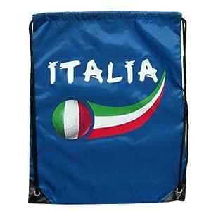 Supportershop Italie Sac de sport Bleu Royal 44 x 33 cm