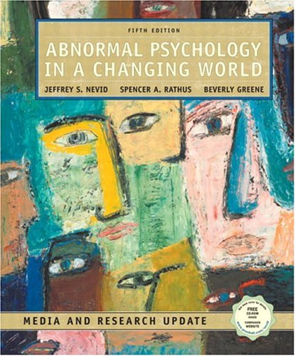 Abnormal Psychology in a Changing World, Media and Research Update