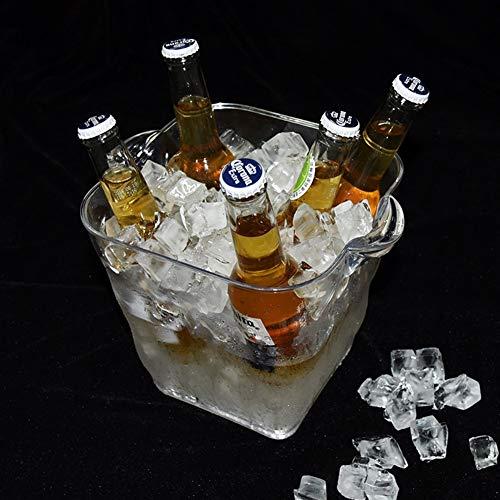 JTHAO 5L Bunte Led Licht Eiskübel, Champagner Barrel Bar Weinfass Lebensmittelqualität Eimer Kunststoff Vasen Für Mittelstücke Party Eimer KTV Bierfass Transparente Eiskübel (Kunststoff Vasen Für Mittelstücke)