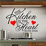 Home Kitchen Best Deals - Sticker Bay Kitchen Is The Heart Of The Home Wall Sticker Quote Art - Lime Green by Sticker Bay