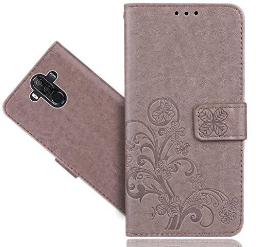 Ulefone Power 3 / Power 3S Handy Tasche, FoneExpert® Wallet Case Cover Flower Hüllen Etui Hülle Ledertasche Lederhülle Schutzhülle Für Ulefone Power 3 / Power 3S
