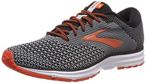 Brooks Revel 2, Scarpe da Running Uomo, Nero (Black/Light Grey/Orange 091), 42.5 EU