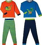 Kinderbutt Schlafanzug 2er-Pack Interlock-Jersey bunt Größe 134 / 140