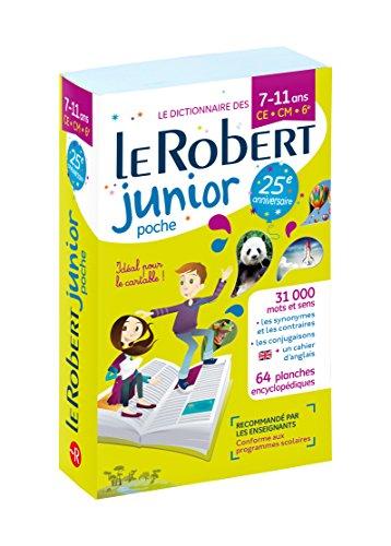 Dictionnaire Le Robert Junior Poche - 7/11 ans - CE-CM-6e - Édition anniversaire par Collectif