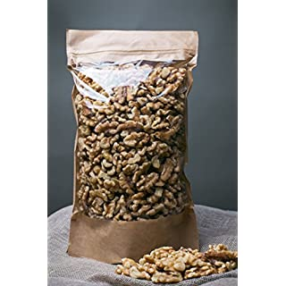 Fresh and Crunchy Walnut Halves - (700gram) Raw, Natural Walnuts - Pieces for Baking, Snacking, Salads or Granola - Resealable Ziplock Bag