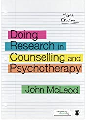 Doing Research in Counselling and Psychotherapy by John McLeod (2015-01-02)