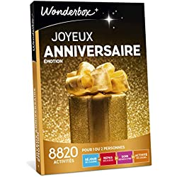 Wonderbox - Coffret cadeau anniversaire - JOYEUX ANNIVERSAIRE EMOTION - 8820 séjours, repas, massage