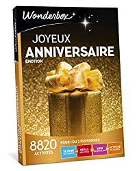 L'un de vos proches fête son anniversaire et vous êtes à la recherche d'une idée de cadeau d'anniversaire originale ? Qu'il ou elle ait 20, 30, 40, 50 ans ou plus, qu'il s'agisse d'une femme ou d'un homme, nos coffrets cadeaux uniques et insolites le...