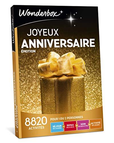 Wonderbox - Coffret cadeau anniversaire - JOYEUX ANNIVERSAIRE EMOTION - 8820...