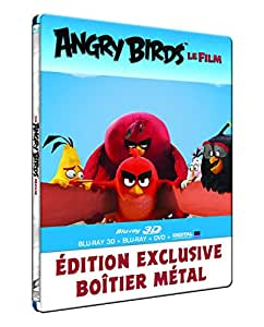 Angry Birds - Le film [Combo Blu-ray 3D + Blu-ray + DVD + Copie digitale - Édition boîtier SteelBook]