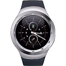 New Smart Mobile Watch Inbuild Camera_Suppoting 3G/4G SIM,Memory Card,Whatsapp,WeChat,Twitter,Facebook, Time Schedule, Read Message or News, Sports, Health, Pedometer, Sedentary Remind & SleepMonitoring,_compatible with all Leading Brands Phone like Samsung,Xiaomi Mi,Oppo,ViVo,Moto,HTC,Lenovo,honour & Jio._(R1-BLK)