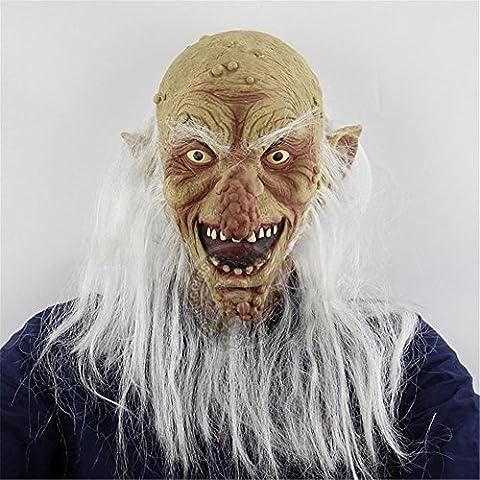SQCOOL Halloween Maske Horror Übelkeit Leper Face Blame Scary Kopf Cover Ganzes Ghost Room Secret Room Escape Live Silikon (Schwarze Katzen-kostüm Diy)
