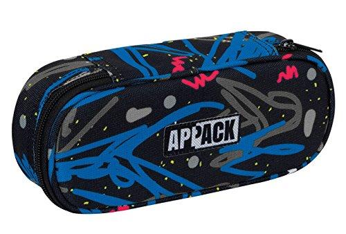Bustina round appack - portapenne con organizer interno - nero blu 0,7lt