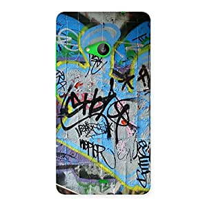 Luxirious Random Art Multicolor Back Case Cover for Lumia 535