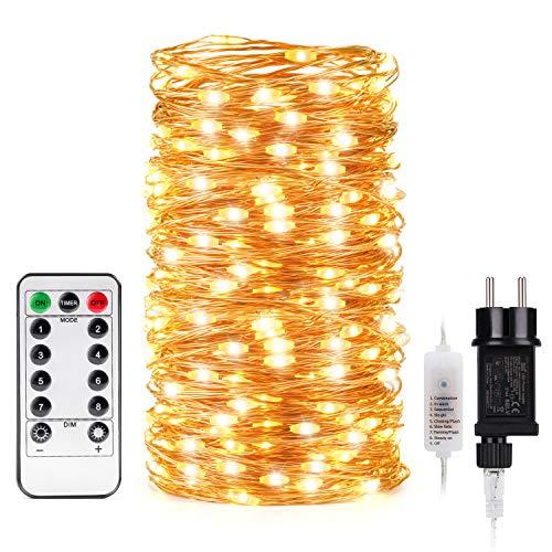 Kohree LED Lichterketten 20m 200 LEDs Kupferdraht mit -