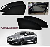 Sparkling Trends Zipper Magnetic Car Sunshade/Magnetic Curtain for Maruti Suzuki Baleno Model Black