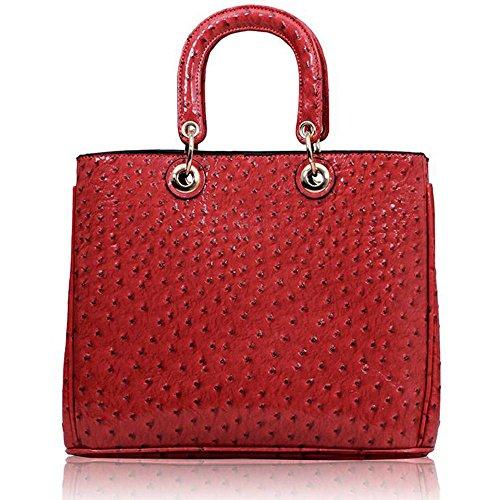 TrendStar - Sacchetto donna Rosa (Pink Ostrich Tote Handbag)