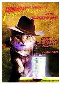 Funny Cat Greeting Card - 'Indimojo's Bones' - NF037