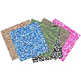 Craftopia Premium Assorted Camouflage Self Adhesive Vinyl Sheets by Craftopia