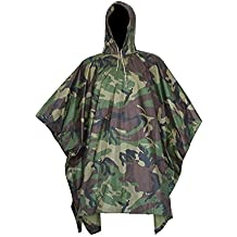 5afe094b660 EONANT Poncho Impermeable, Ripstop Raincoat Impermeable Camuflaje Militar  Capa de Lluvia con Capucha para el