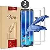 Leathlux [2-Unidades] Protector de Pantalla de Vidrio Templado para Galaxy S8 [2-Pack] Anti-Golpes Cristal Vidrio Templado Premium Anti-Huella 3D Touch Ultra para Galaxy S8 Plus