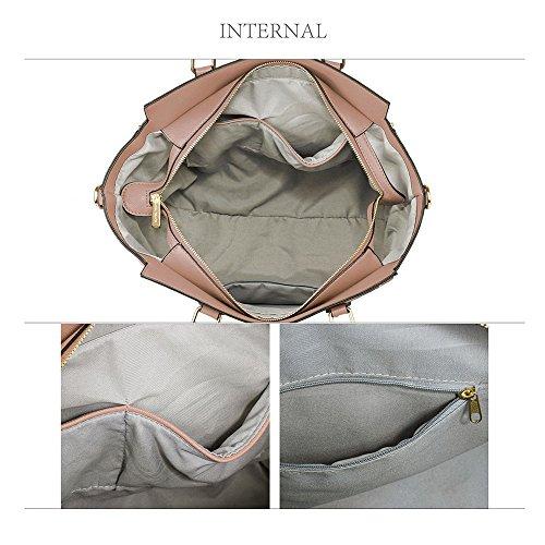Meine Damen Umhängetaschen Frauen Große Designer Handtaschentoteschulterkunstleder Modische Taschen A - Nackt