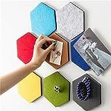 LouisaYork 6-eckige Korktafel, Filzpinnwand, Memoboard, für Zuhause, Büro, Wohnzimmer, Wanddekoration