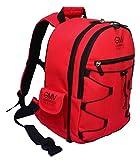 Italian Designer GMV Backpack for SLR Cameras and Accessories RED + RAIN COVER Italian Brand (Black)