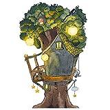 Wandtattoo Baumhaus für die Elfen- und Feentür im Kinderzimmer
