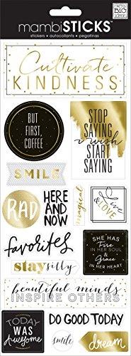 me & my BIG ideas Specialty Aufkleber Aber Erste Kaffee, Acryl, Mehrfarbig