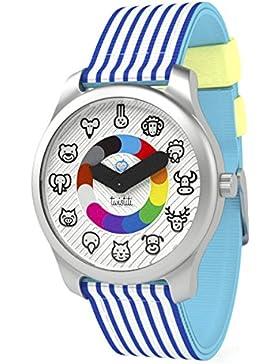 twistiti–Zeigt Kinder pädagogische Tiere ab 3Jahre–Armband Marinière blau