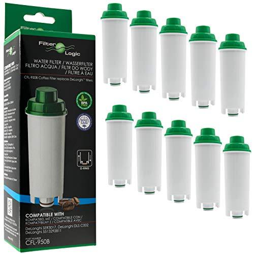 10 x FilterLogic CFL-950B - Wasserfilter für DeLonghi Kaffeemaschine - ersetzt DLS C002 / DLSC002 /...