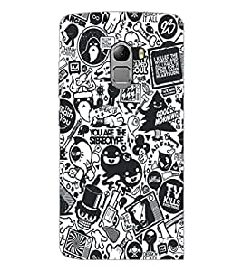 PrintDhaba Graffiti D-5188 Back Case Cover for LENOVO K4 NOTE A7010 (Multi-Coloured)